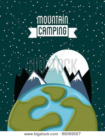 camping design over starry background vector illustration