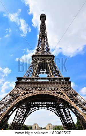 Eiffel Tower under blue sky, Paris, France