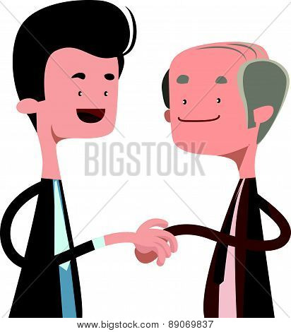People shaking hands vector illustration cartoon character