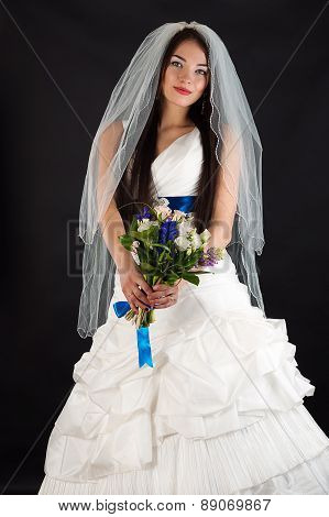 beautiful woman in a wedding dress