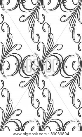 Floral vintage seamless pattern for your design. Vector illustration.