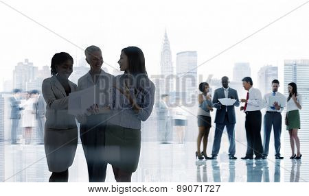Business People Corporate Communication Colleagues Office Concept