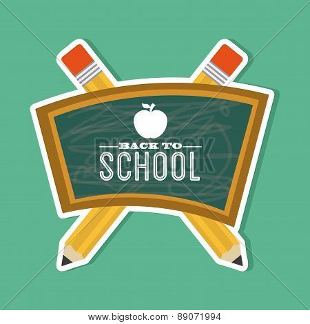 school design over green  background vector illustration