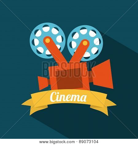 cinema design over blue background vector illustration