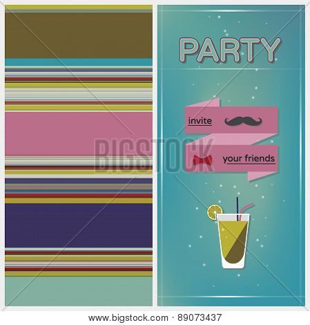 Geometric Color  Striped Pattern Background