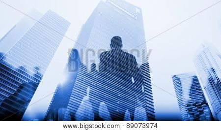 Business People Walking Commuter Pedestrian Cityscape Concept