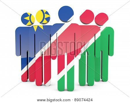 People With Flag Of Namibia