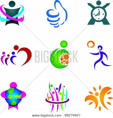 Positive social people exploring and living happy healthy life