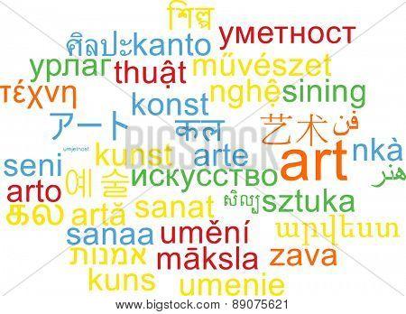 Background concept wordcloud multilanguage international many language illustration of art