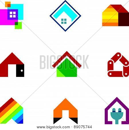 Design safe home real estate interior construction logo icon