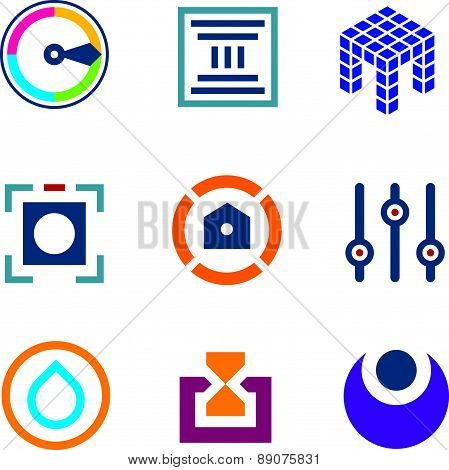 High technology settings optimization digital science developer logo icon