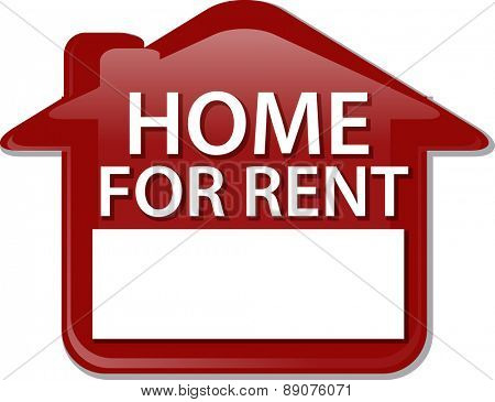 Illustration concept clipart for rent sign house renting