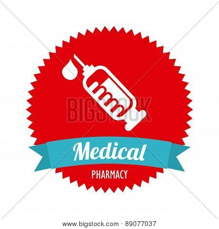 injection isolated over white background vector illustration