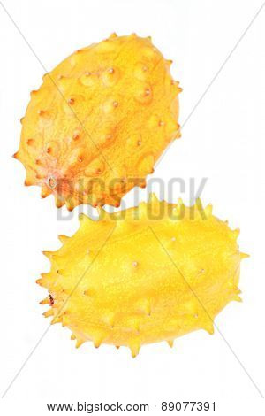 Studio shot of kiwano fruit