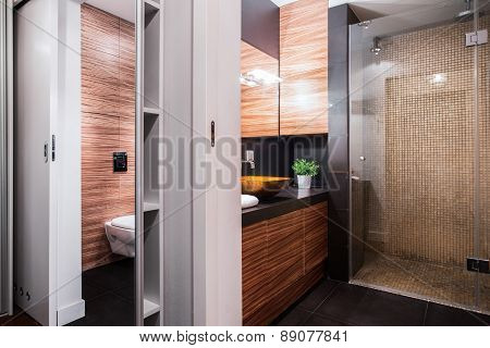 Luxury Restroom In Elegant Apartment