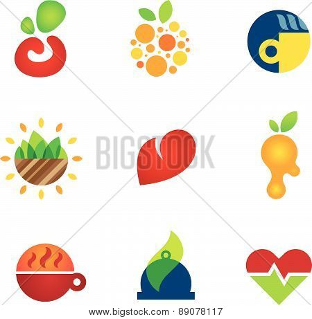 Health care medical food kitchen solutions perfect startup company logo