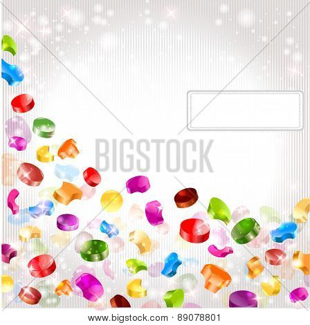 abstract background with rainbow color cilindrical shapes