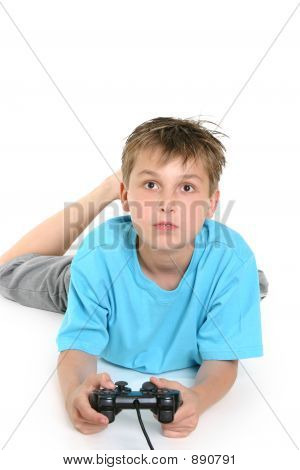 Child Playing Computer Games.