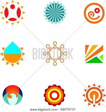 Exclusive creativity set nature art decoration ornament logo icon
