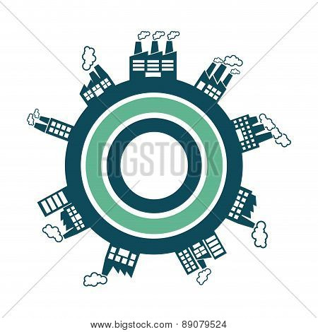 industry design over blue background vector illustration