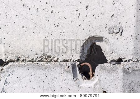 Fragment Of A Concrete Product