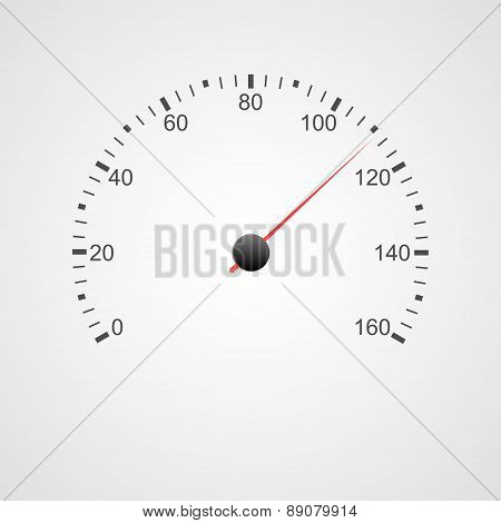 Speedometer Design. Vector Illustration.