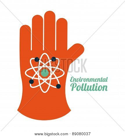 pollution design over white backgroundvector illustration