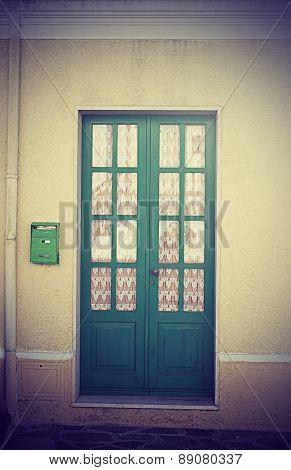 Old Door In Vintage Tone