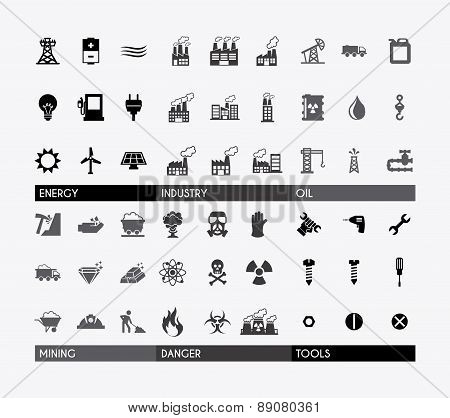 industry design over gray background vector illustration
