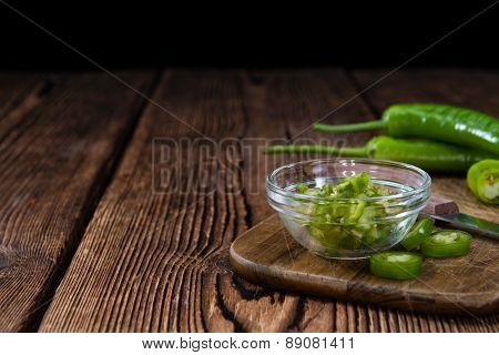 Cutted Green Chilis