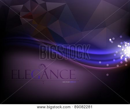 elegant curve lines minimalism glowing light waves elegant background eps10 vector