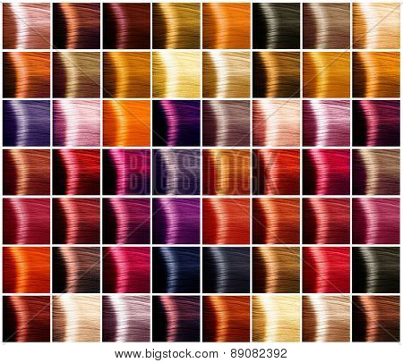 Hair Colors Palette Colours Set