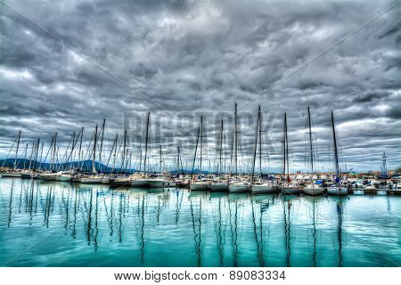 Boats In Alghero Harbor