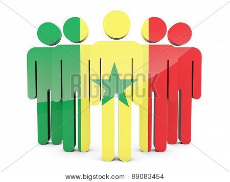 People With Flag Of Senegal