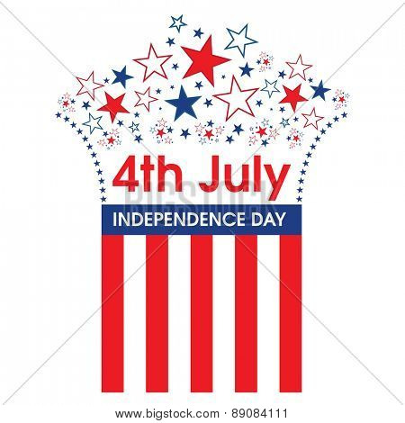 4th July American Independence Day design.