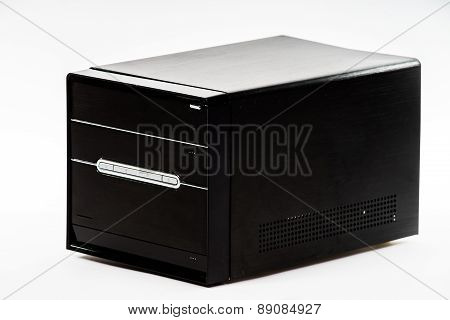 Elegant Computer Box Isolated On White