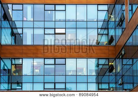 Glass Wall Of Modern City Building