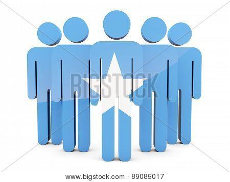 People With Flag Of Somalia