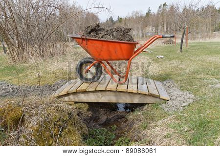 Wheel Barrow Full Of Mud