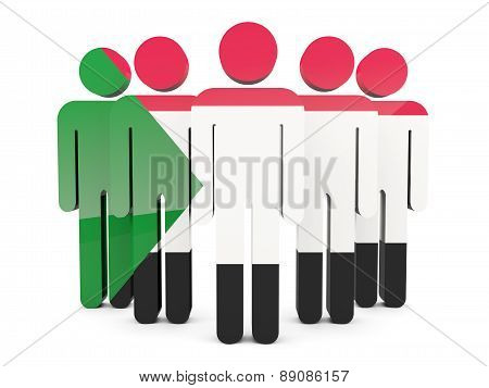 People With Flag Of Sudan