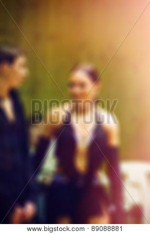 Ballroom dance competition blur background