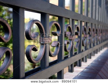 Metal fence - close-up