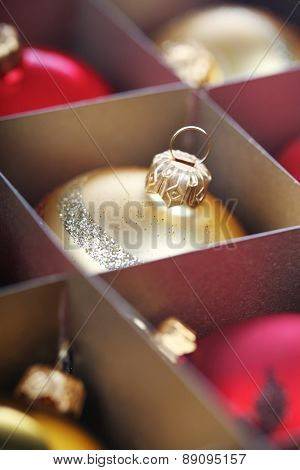 Christmass bauble in box