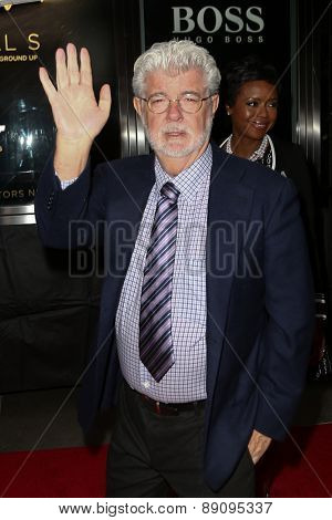 NEW YORK-APR 21: Director George Lucas attends the 2015 Time 100 Gala at Frederick P. Rose Hall, Jazz at Lincoln Center on April 21, 2015 in New York City.