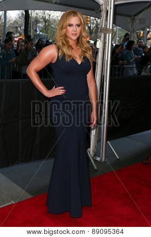 NEW YORK-APR 21: Comedian Amy Schumer attends the 2015 Time 100 Gala at Frederick P. Rose Hall, Jazz at Lincoln Center on April 21, 2015 in New York City.
