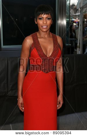 NEW YORK-APR 21: TV personality Tamron Hall attends the 2015 Time 100 Gala at Frederick P. Rose Hall, Jazz at Lincoln Center on April 21, 2015 in New York City.