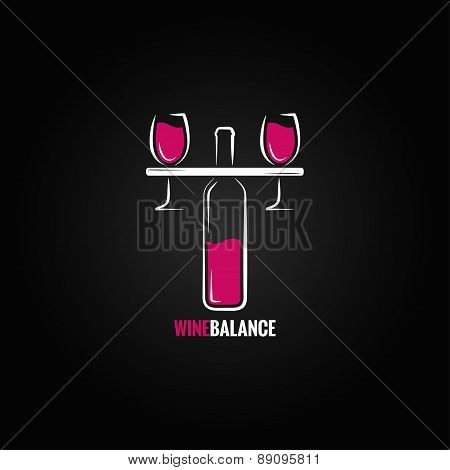 wine red and white balance concept design background