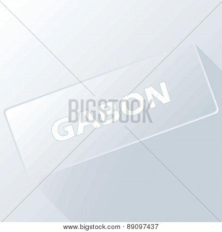 Gabon unique button