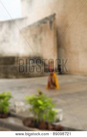 Traditional Bali dance blur background