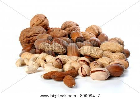 Delicacies on white background - close-up
